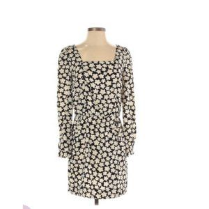 ANTHRO Leifsdottir 100% Silk Long Sleeve Dress